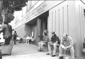 Outside the Downtown Chapel in Portland