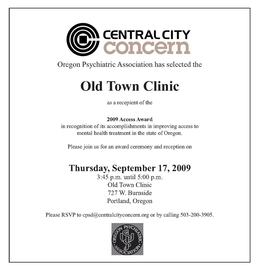 Old town clinic wins access award mental health association of old town clinic wins access award sciox Image collections
