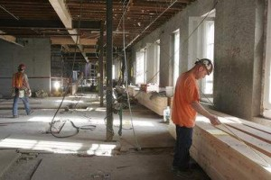 Restoration work continues on the third floor of the 126-year-old J Building of the Oregon State Hospital building.