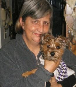 Marilyn Dirks and her companion dog, Tasaulgi