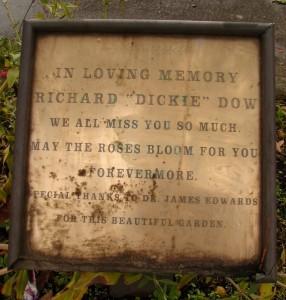 Memorial for Dickie Dow