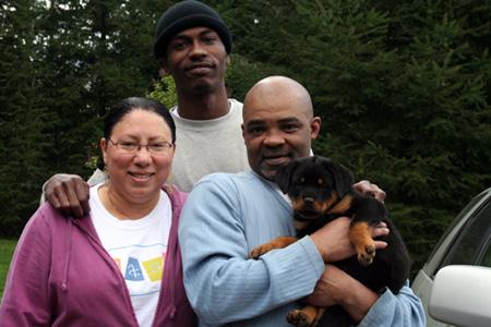 Keaton Otis with his family