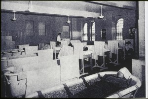 Oregon State Hospital, ice bath therapy; taken sometime in the 1940s or 1950s