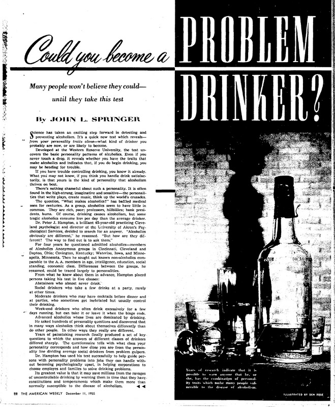 Could you become a problem drinker?