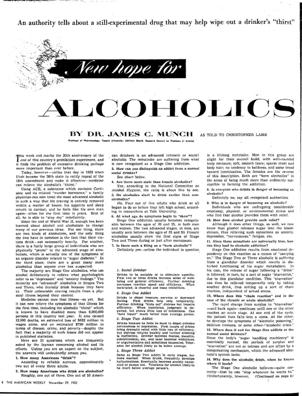New hope for alcoholics