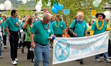 Oregon State Hospital staff and patients raised more than $13,000 for the National Alliance on Mental Health during the ninth annual NAMI Northwest Walk along Portland's waterfront.