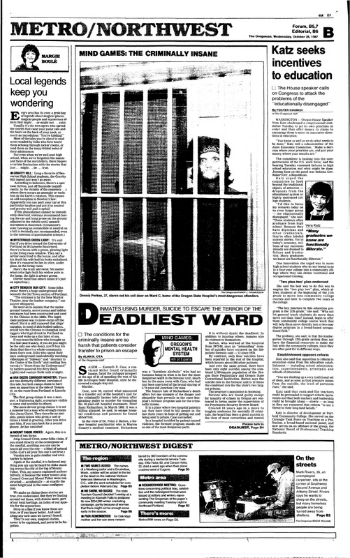 The Oregonian October, 28 1987