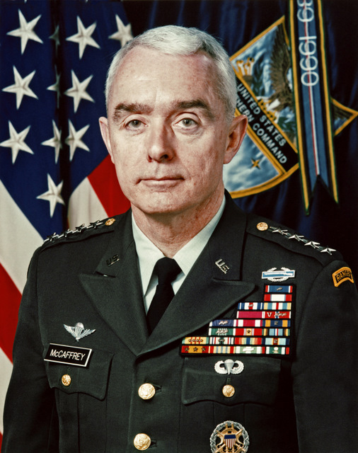 U.S. Army Gen. Barry R. McCaffrey