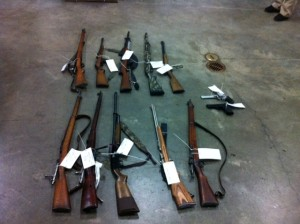 John Griffin's seized guns