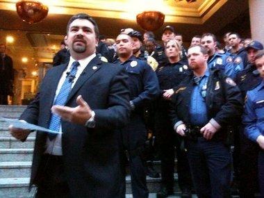 Scott Westerman when President of the Portland Police Association