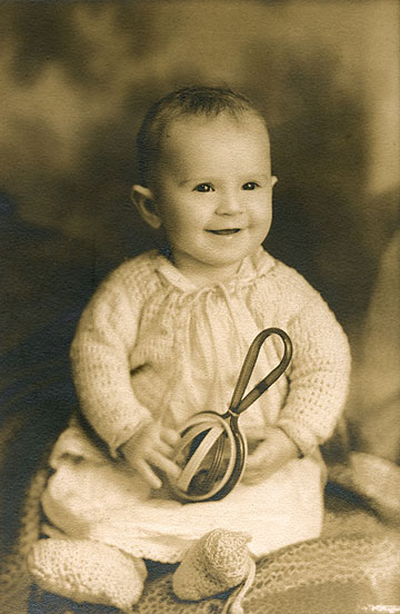 Corrine Reed as a baby