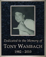 A memorial to Tony Wambach, a 27-year-old who killed himself in April 2010, is posted at the entry to the Oxford House in Milwaukie. Wambach's parents bought the house and leased it to the Oxford House in memory of their son, who had struggled with cocaine use but was successful during his stays at other Oxford Houses in Portland. (Brent Wojahn/The Oregonian )