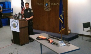"Portland Police Chief Mike Reese held a press conference a day after Officer Dane Reister deployed a less-lethal beanbag shotgun containing lethal rounds, seriously wounding a man in Southwest Portland June 30. Reese called the shooting a ""tragic mistake.''"