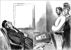 Drawing by Honoré Daumier