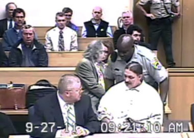 Gary Haugen at his mental competency hearing Sept. 27 in Salem.  (Image: Marion County Courthouse feed)