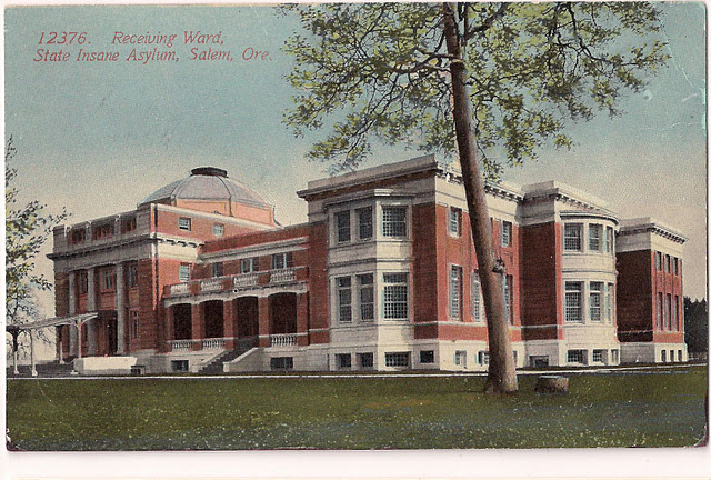 Receiving Ward of the Oregon State Insane Asylum, about 1917