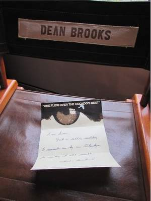This leather director's chair was given to Dean Brooks, former superintendent at Oregon State Hospital, by the producers of 'One Flew Over the Cuckoo's Nest.'