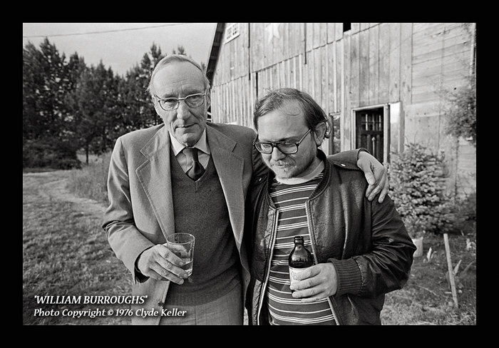William Burroughs and Marty Christensen, photo by Clyde Keller