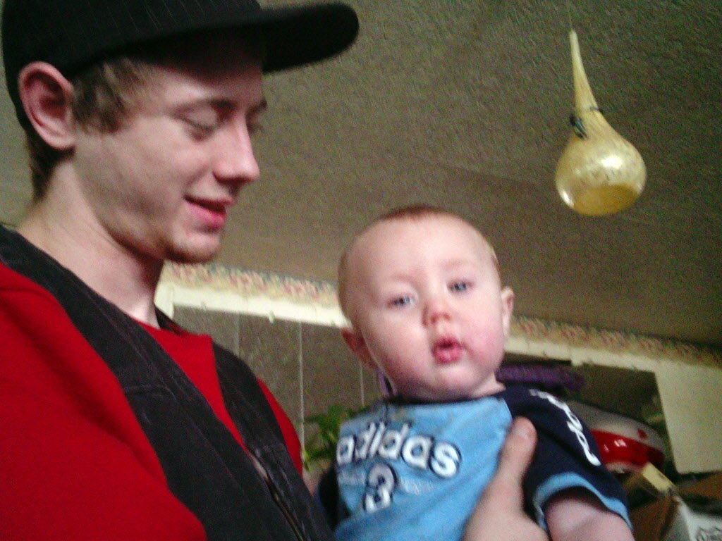 Brad Lee Morgan, pictured here holding his son, Kannon. Kannon is now 8 months old