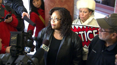 Marva Davis, mother of Aaron Campbell, talks about her family's decision to settle a suit against the Police Bureau for $1.2 million.