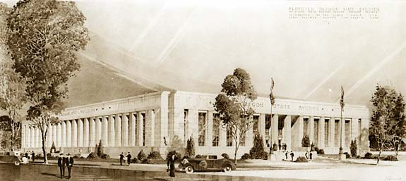 Proposed Oregon State Building - 1938