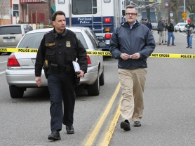 Chief Mike Reese and Mayor Sam Adams respond to shooting of PPB officers by Ralph Turner