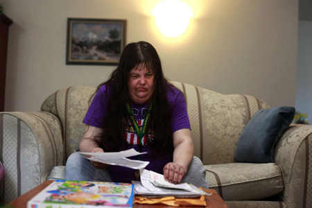 Lori Bouferrache, a mentally ill tenant at Cascadia's Lone Pine Apartments in Gresham's Rockwood neighborhood, says some tenants need more oversight where they live.