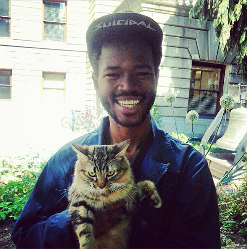 Cameron Whitten + homeless cat