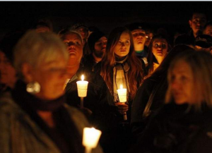 Candlelight vigil for Chase Hammer