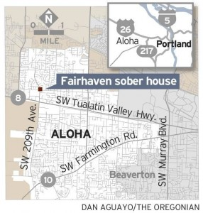 Fairhaven sober house - map