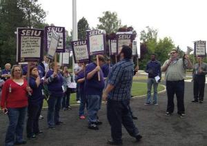 OSH union rally