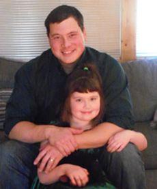 Humphreys with his daughter