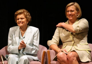 Betty Ford, left, and daughter Susan Ford Bales.
