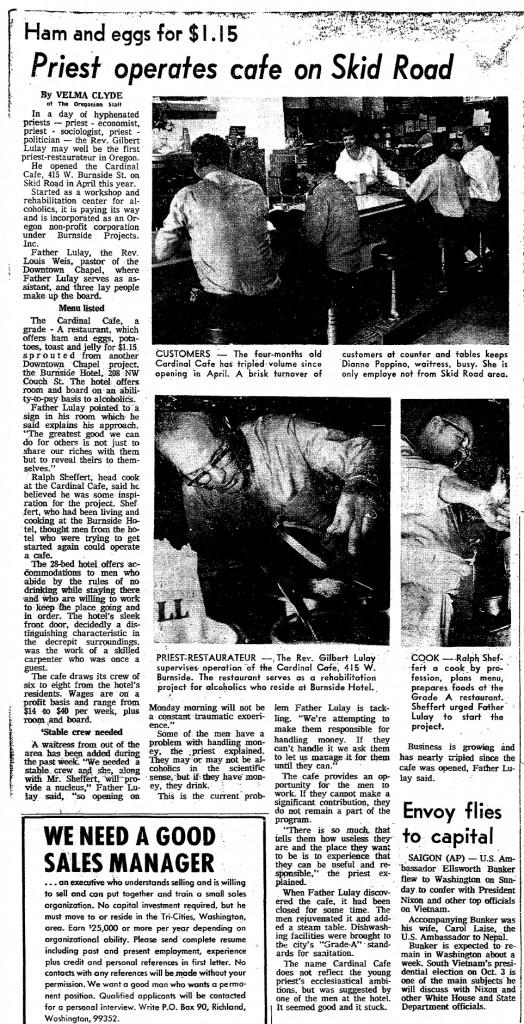 Burnside Projects 8 9 1971