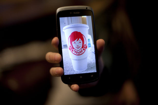 "Melanie Carlson saw a hidden message in her Wendy's cup. It turned out there was one -- the letters ""MOM."""