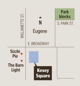 Map of Kesey Square - Tom Penix-The Register-Guard