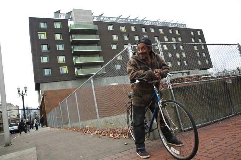 Musician Jon Hall, 56, was homeless from 1977 until he qualified for an apartment at Bud Clark Commons.