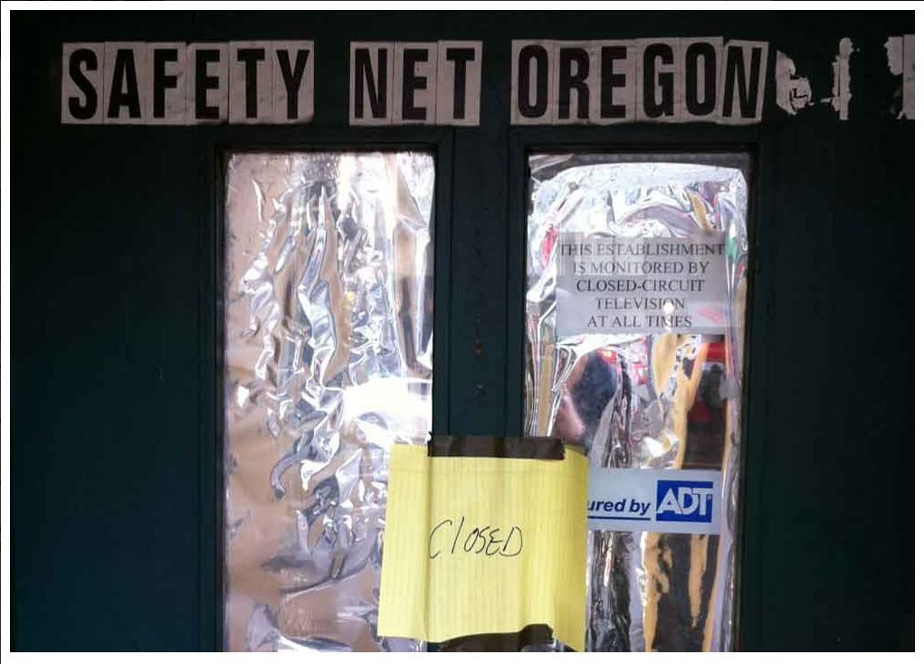 Safety Net with closed sign