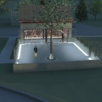Artist's rendering of cremated remains memorial