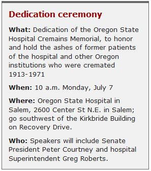 Info on Cremains Memorial