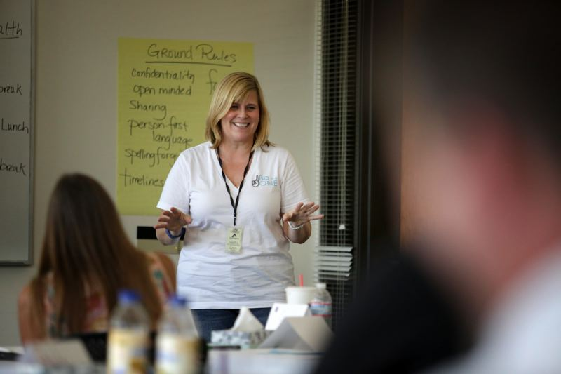 Mental Health First Aid instructor Karen Carlin