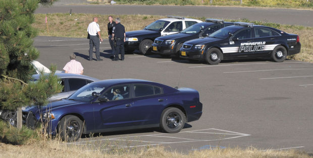 Staging area for police investigating Amanda Gatewood shooting