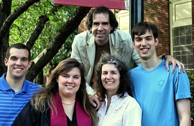 The Fritz family - Dr. Steve Fritz (top), Luke (left), Alessandra, Amanda and Maxwell