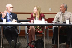 Three members of the selection advisory board discuss the candidates