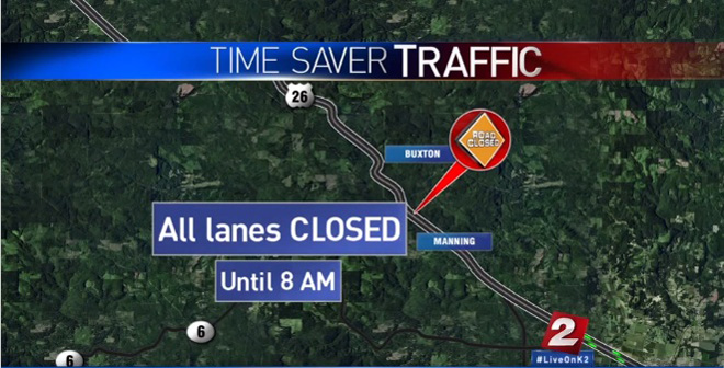 Highway 26 was closed after the shooting.