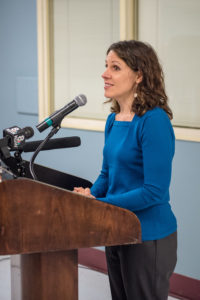 Deborah Kafoury, Multnomah County Chair. Wall-Breaking event, Nov. 19, 2015