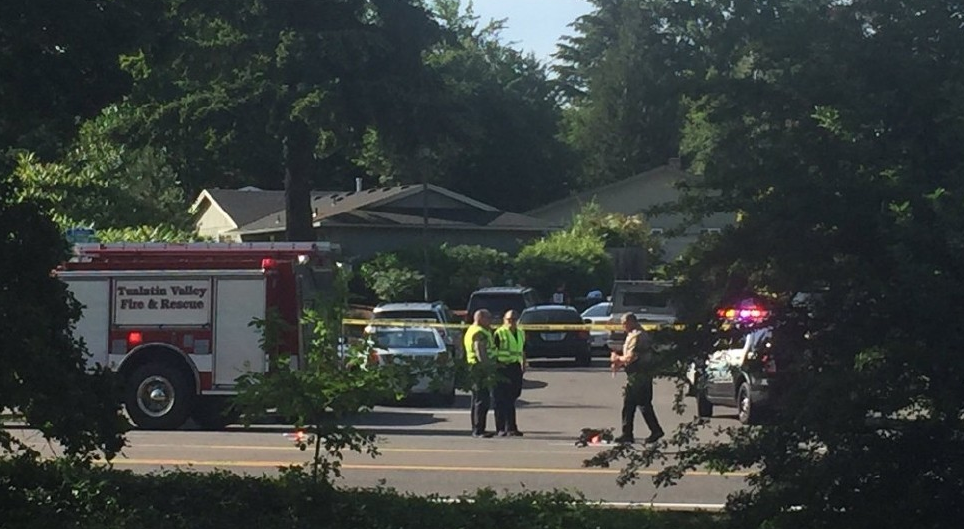 Scene of Tualatin shooting