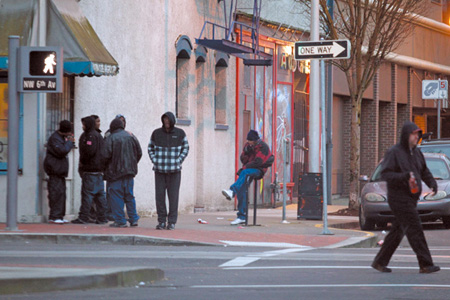 Opponents of a Drug Free Zone cite a 2007 study, which showed the zone was being used to discriminate against blacks picked up on drug charges. The corner of Northwest Sixth Avenue and Flanders Street is considered the center of Crack Alley.